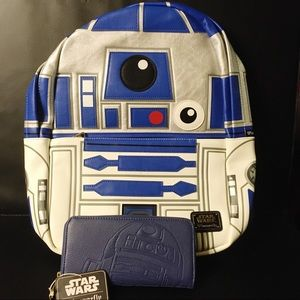 Loungefly Star Wars R2D2 Wallet & Full Backpack